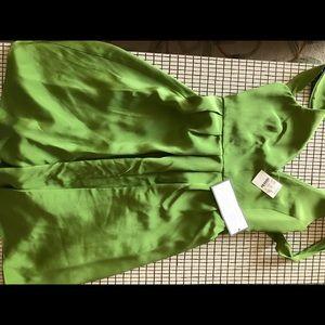Jcrew green silk tieback dress new w tag 2p pretty